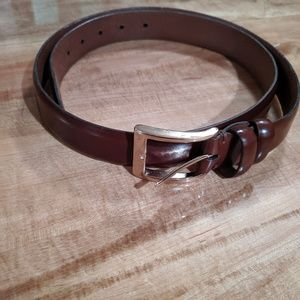 Cole Haan leather and brass belt 38